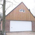 Houten garage plaatsen